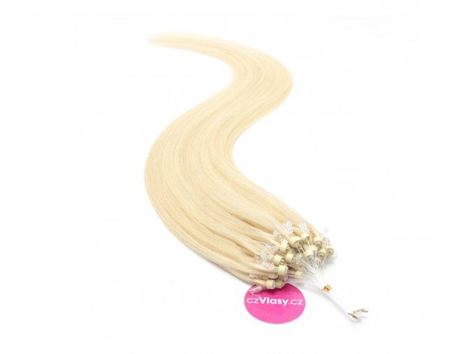 Indické vlasy na metodu micro-ring odstín 613