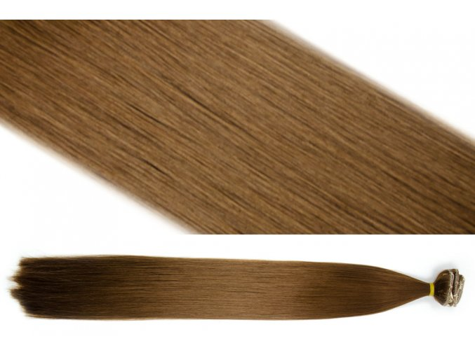 Syntetická clip in sada vlasů 55 cm, 120 gramů, odstín 10