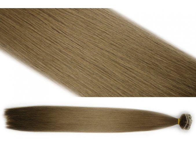Syntetická clip in sada vlasů 55 cm, 120 gramů, odstín 7