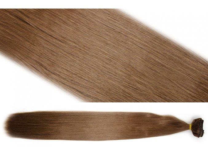 Syntetická clip in sada vlasů 55 cm, 120 gramů, odstín 13