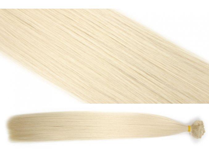 Syntetická clip in sada vlasů 55 cm, 120 gramů, odstín 613