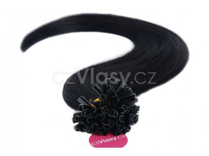 Asijské vlasy na metodu keratin odstín 1
