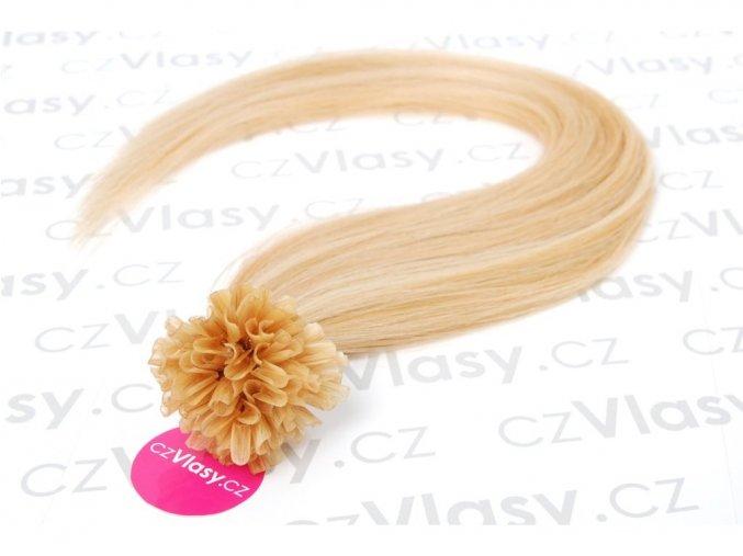 Asijské vlasy na metodu keratin odstín 27/613 po 20 ks