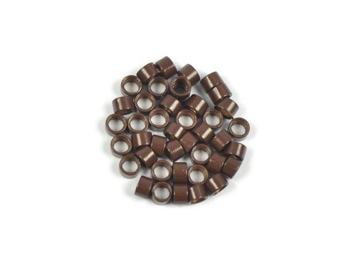 Kroužky micro ring 4,5 mm bez silikonu - hnědé