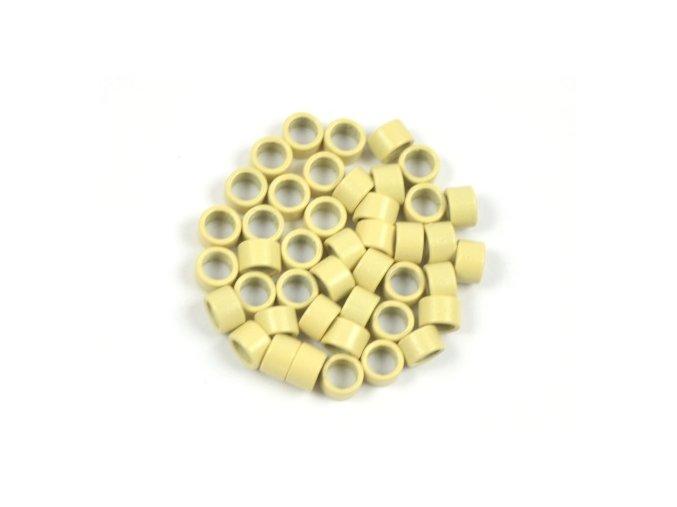 Kroužky micro ring 4,5 mm bez silikonu - blond