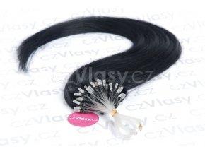 Asijské vlasy na metodu micro-ring odstín 1