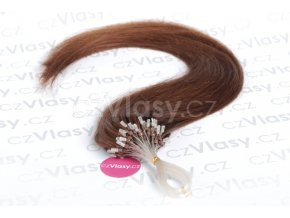 Asijské vlasy na metodu micro-ring odstín 4