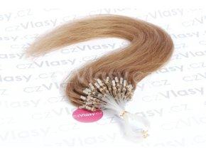 Asijské vlasy na metodu micro-ring odstín 12