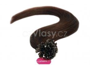 Asijské vlasy na metodu keratin odstín 2 po 20 ks