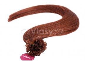 Asijské vlasy na metodu keratin odstín 33 po 20 ks