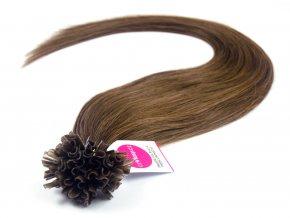 Asijské vlasy na metodu keratin odstín 6 po 20 ks