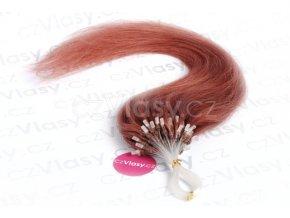 Asijské vlasy na metodu micro-ring odstín 33 po 20 ks