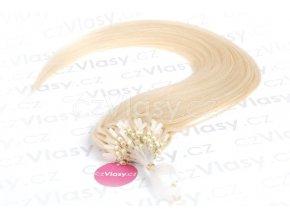 Asijské vlasy na metodu micro-ring odstín 613 po 20 ks