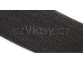 Asijské vlasy zakončené do trubičky odstín 1B