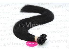 Indické vlasy na metodu keratin odstín 1