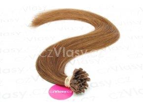 Indické vlasy na metodu keratin odstín 6