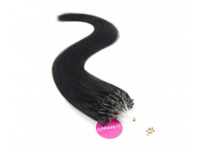 Indické vlasy na metodu micro-ring odstín 1