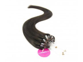 Indické vlasy na metodu micro-ring odstín 2A