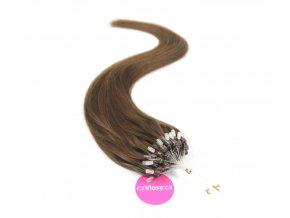 Indické vlasy na metodu micro-ring odstín 4