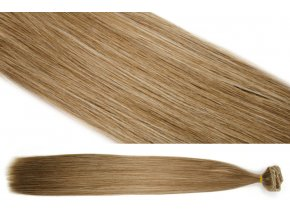 Syntetická clip in sada vlasů 55 cm, 120 gramů, odstín 8/613