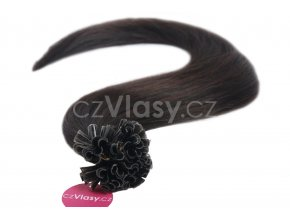Asijské vlasy na metodu keratin odstín 1B