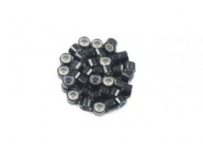Kroužky micro ring se silikonem - černé