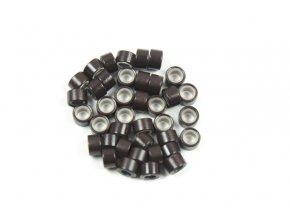 Kroužky micro ring se silikonem - tmavě hnědé