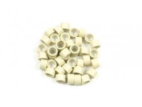 Kroužky micro ring se silikonem - blond