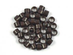 Kroužky micro ring 4,5 mm bez silikonu - tmavě hnědé