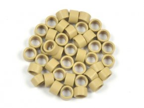 Kroužky micro ring 4,5 mm bez silikonu - tmavá blond