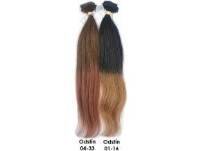 Clip in vlasy Ombré 45 cm, 50 gramů