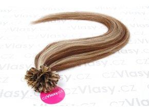 Asijské vlasy na metodu keratin melír 6/613 po 20 ks