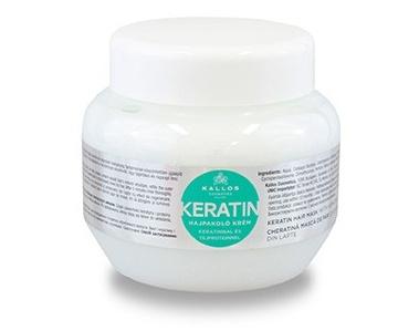 KALLOS maska na poškozené vlasy s Keratinem 275 ml