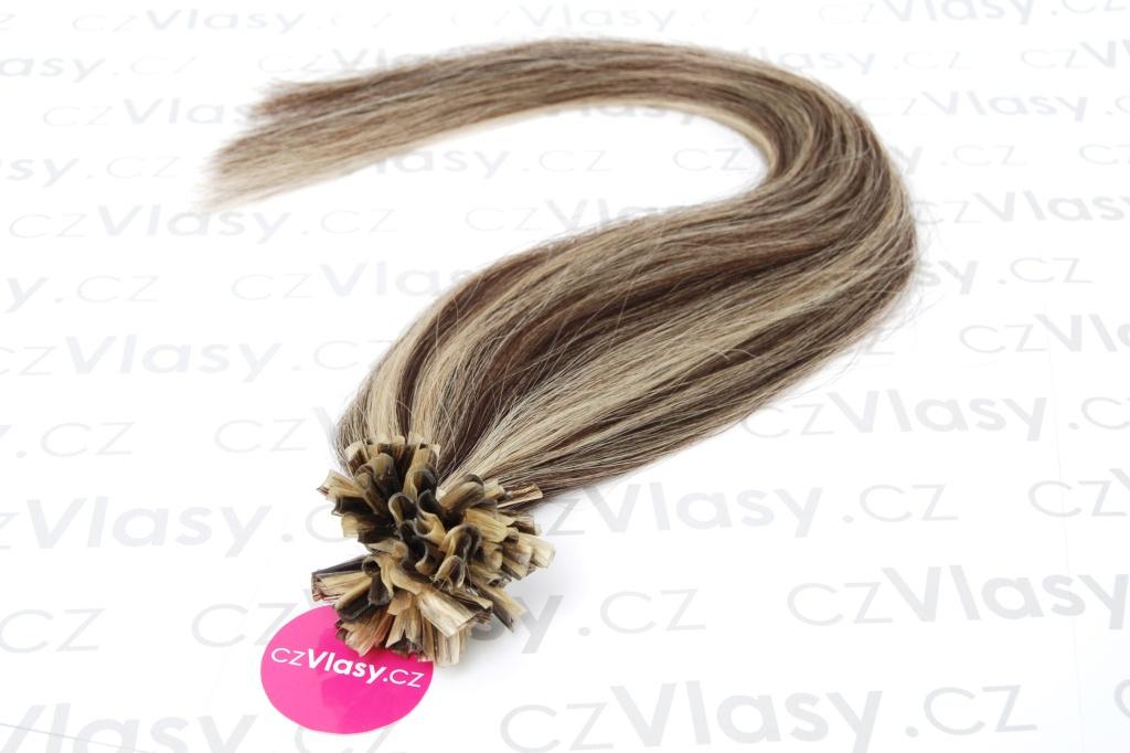 Asijské vlasy na metodu keratin melír 2/613 Délka: 51 cm, Hmotnost: 0,5 g/pramínek, REMY kvalita