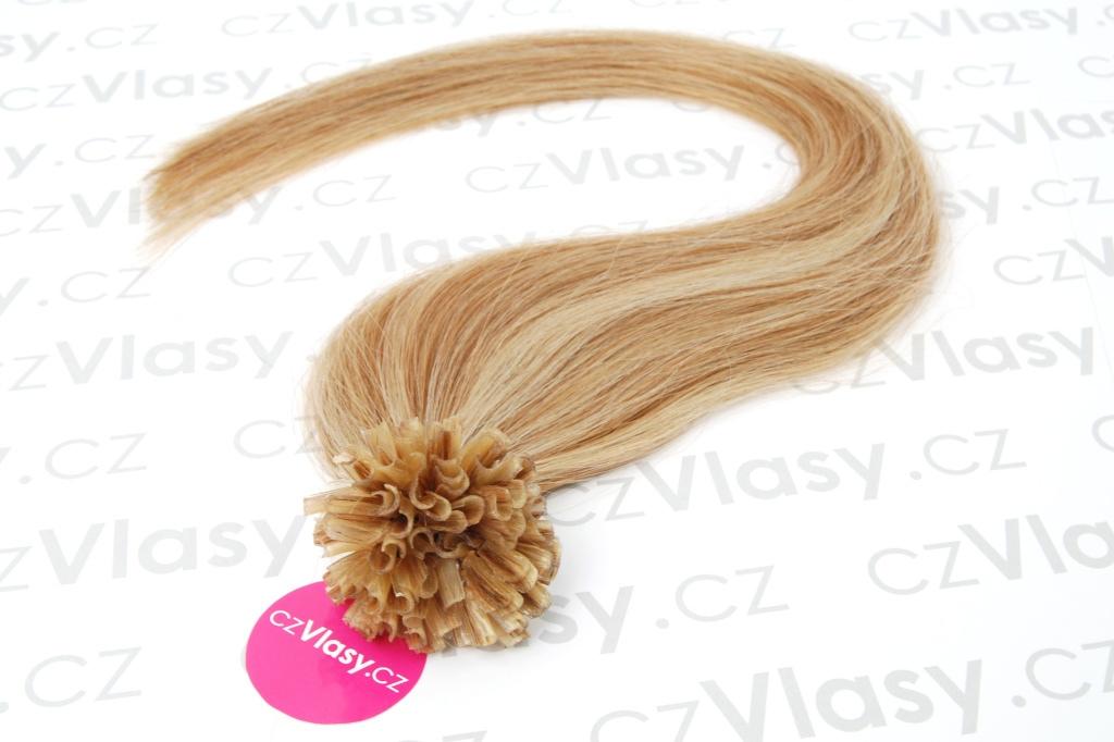 Asijské vlasy na metodu keratin melír 12/613 Délka: 51 cm, Hmotnost: 0,5 g/pramínek, REMY kvalita