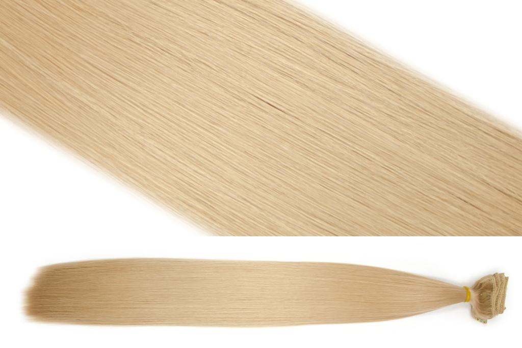 Syntetická clip in sada vlasů 55 cm, 120 gramů, odstín 27