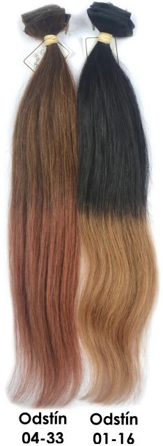 Clip in vlasy Ombré 45 cm, 50 gramů Odstín: 04-33