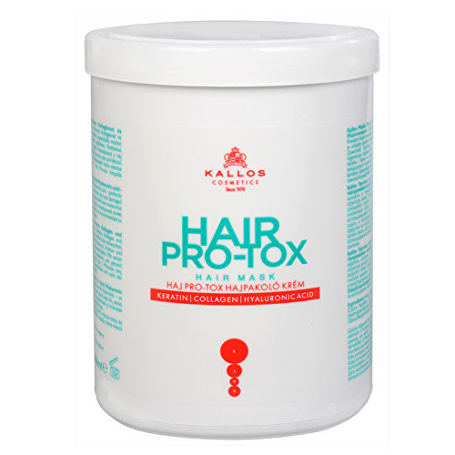 Kallos Pro-Tox Maska na vlasy s kyselinou hyaluronovou a keratinem 1000 ml