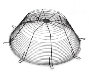 Ochranné mřížky DEF-D pro axiální ventilátory