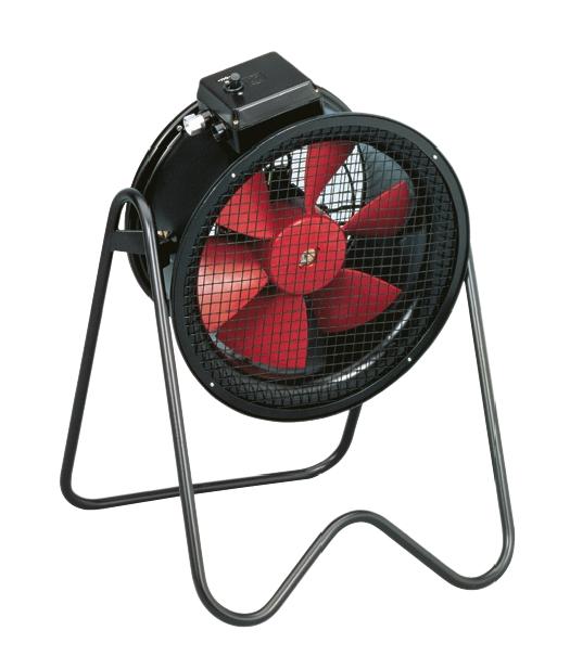 Mobilní axiální ventilátory PBB / PBT
