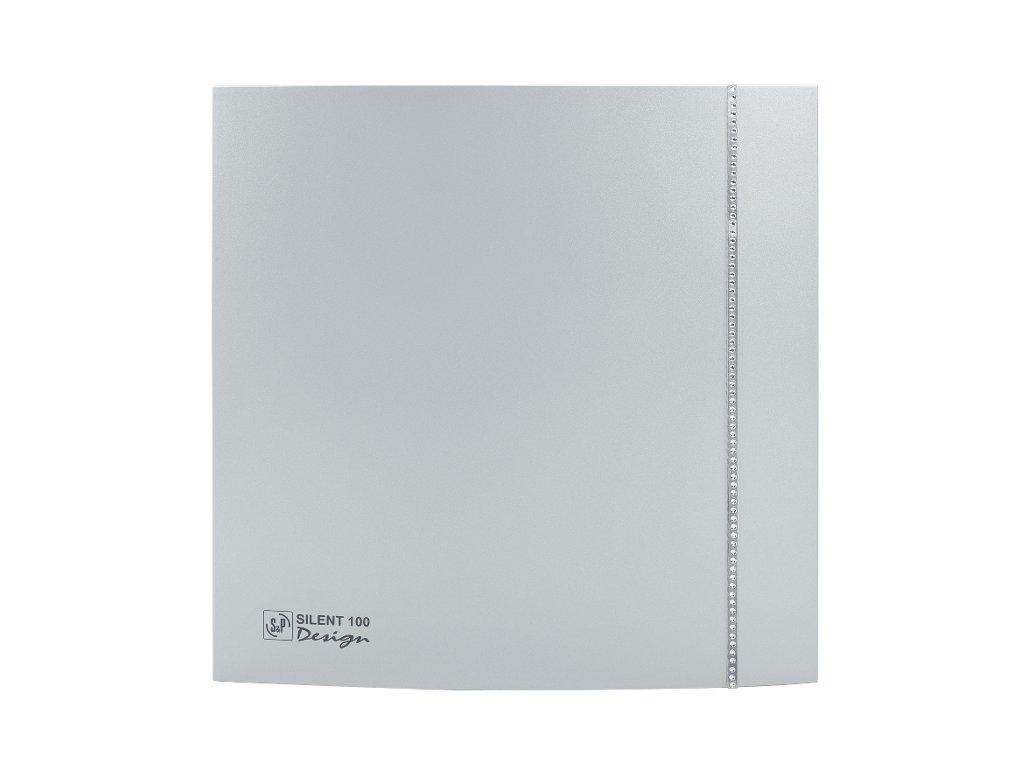 ventilatory Silent Design 100 swarovski silver