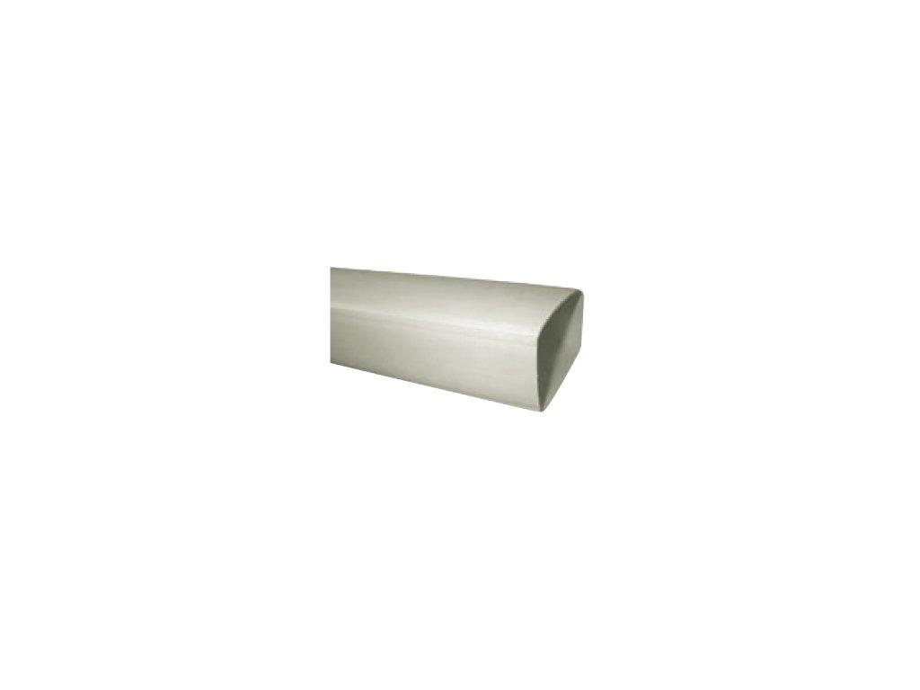 Hranaté plastové vzduchotechnické potrubí UP-PKP-204x60/1500