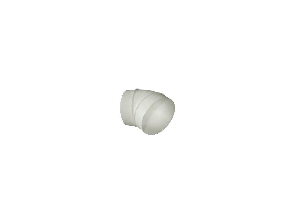 Oblouk plastový 45° pro kruhové potrubí UK-OSP-125/45