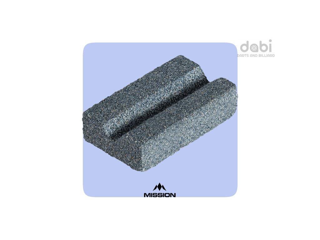 mission v sharp sharpening stone groove