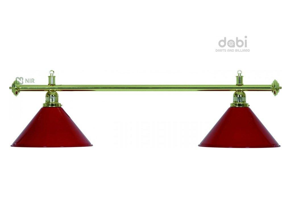 Kulečníková lampa Moonlight Gold 2 červená