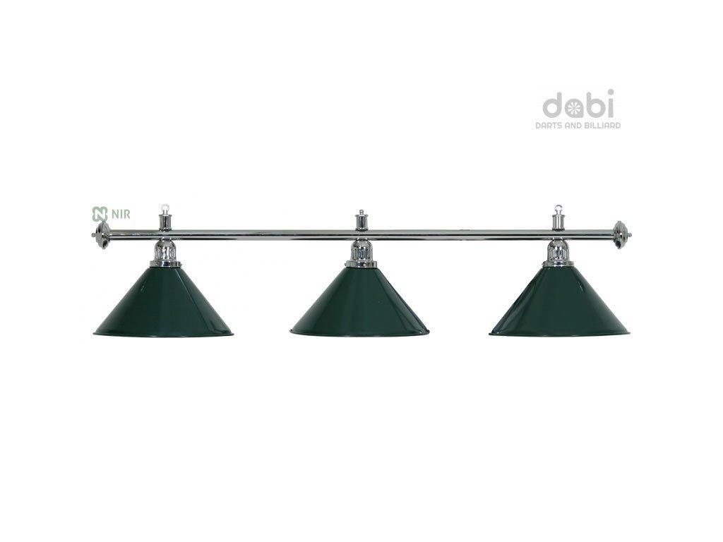 Kulečníková lampa Moonlight Silver 3 zelená