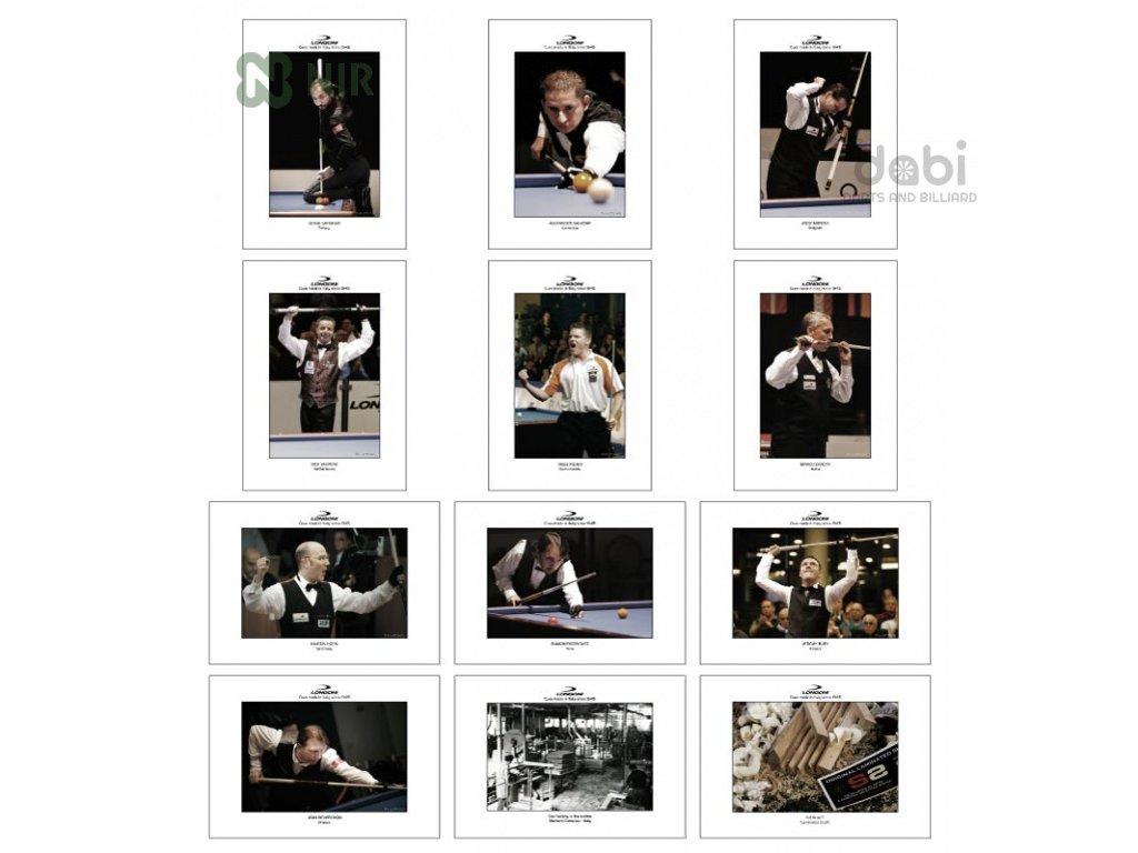Plakát Longoni Masters of Billiard 12 ks
