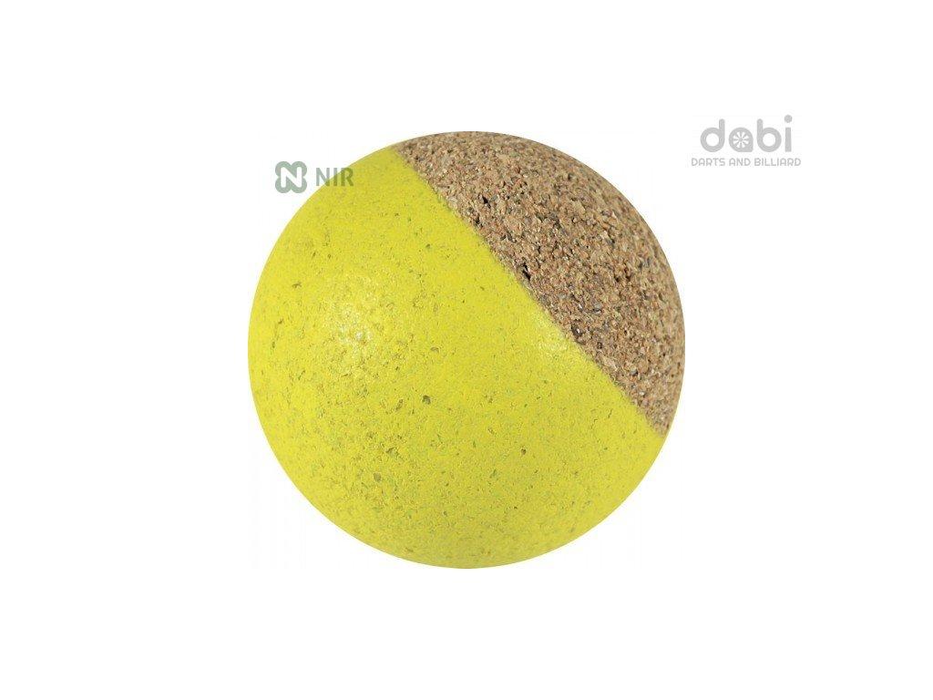 Míček stolní fotbal Korkový žlutý 1 ks