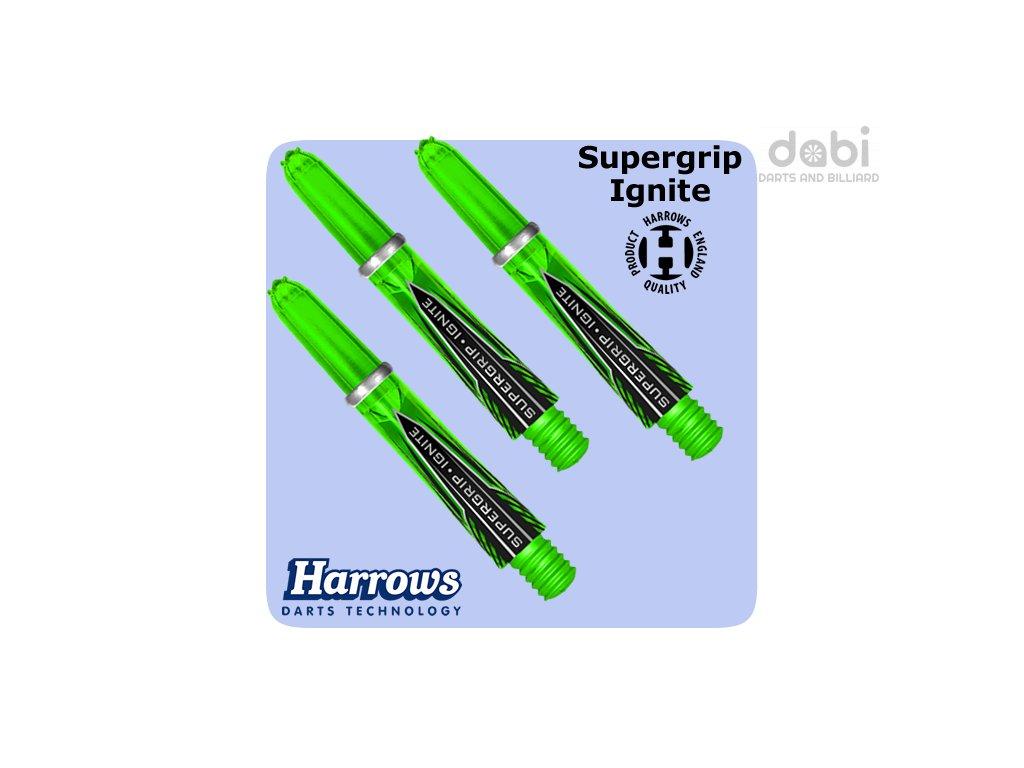 harrows supergrip ignite shafts green short