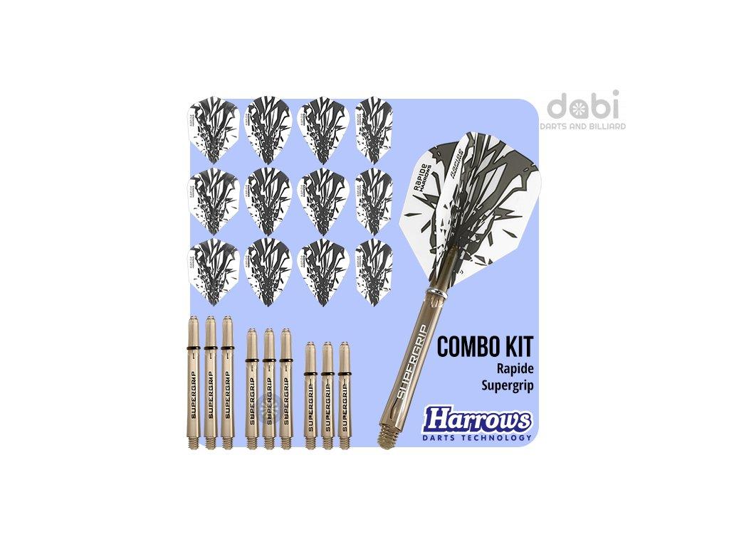 harrows rapide combo kit smokey flights shafts